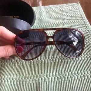 Michael Kors tortoise shell aviator sunglasses